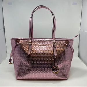 Michael Kors Metallic Pink Shoulder Bag Size Large